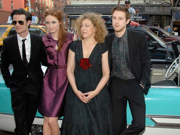 (L to R) Matt Smith, Karen Gillan, Alex Kingston, Arthur Darvill