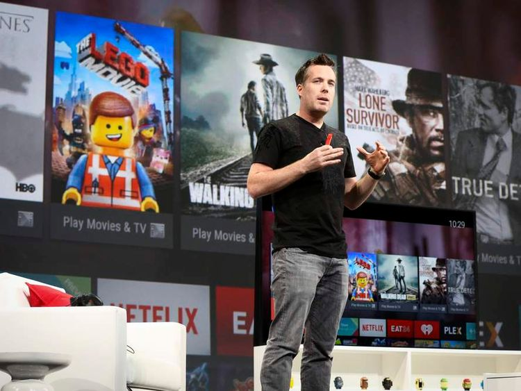 Dave Burke announces Android TV at the Google I/O developers conference in San Francisco