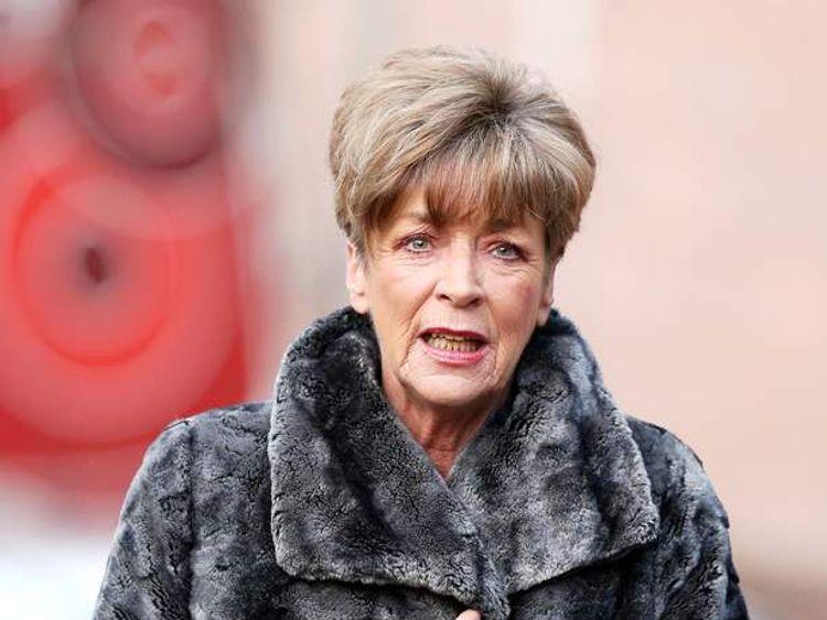 Coronation Street Anne Kirkbride arrives at Preston Crown Court