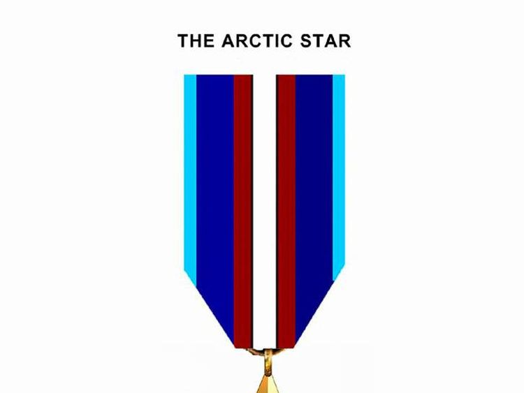 Arctic Star medal and Bomber Command clasp