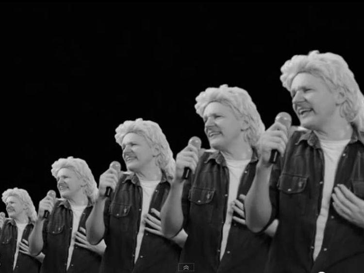 Julian Assange in video spoof