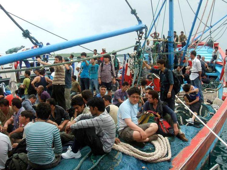 Asylum seekers headed for Australia