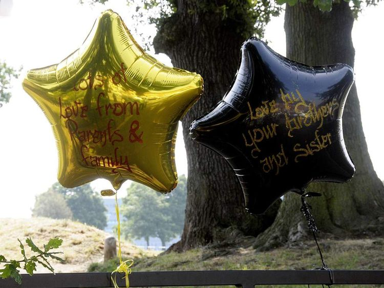 Tributes are left at Oaklands Park in Yardley, Birmingham
