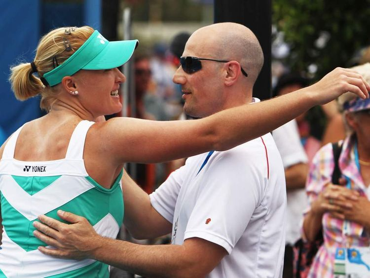 Elena Baltacha with Nino Severino