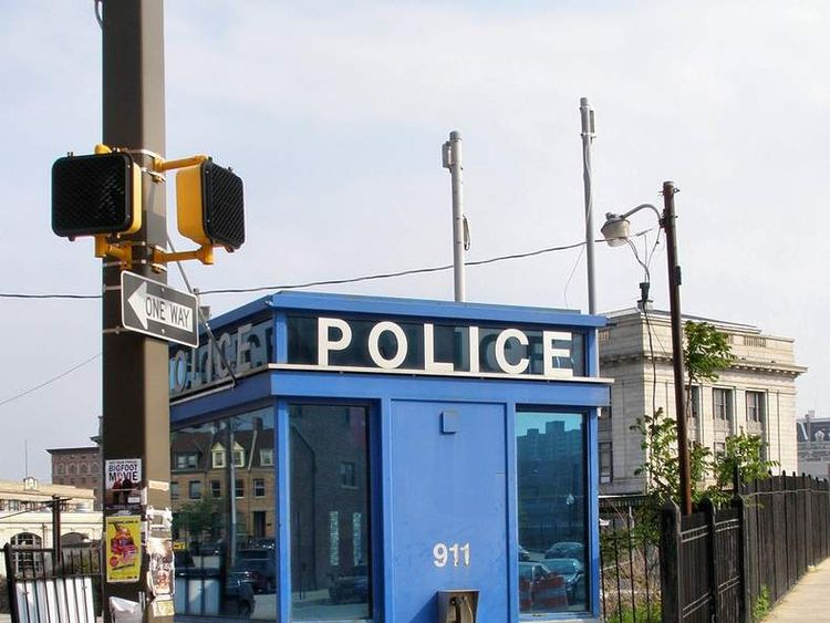 A modern police box