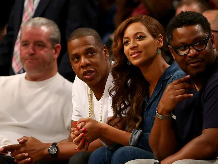 Jay-Z and Beyonce attend Game Four of the Eastern Conference Semifinals