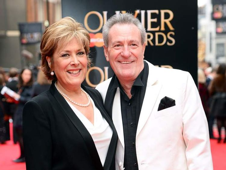 Lynda Bellingham with her husband Michael Pattemore