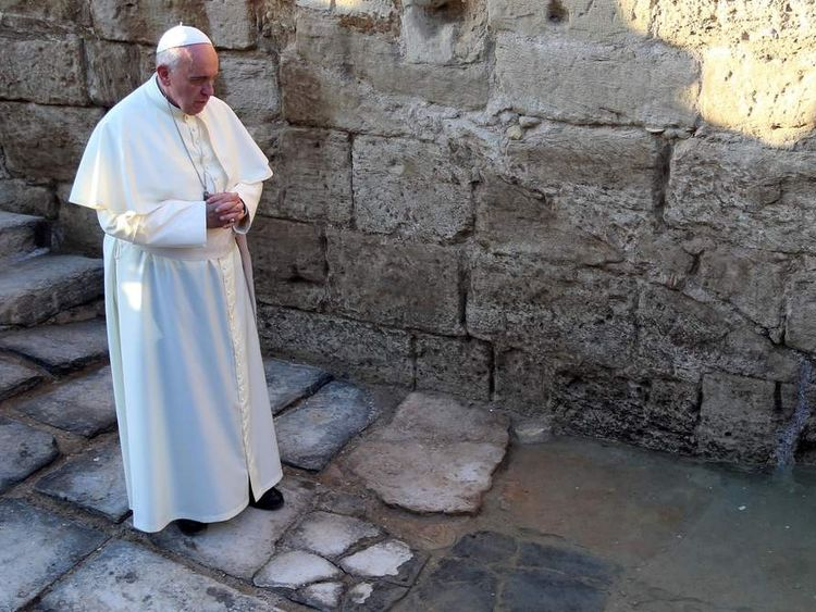 The Pope visits Bethany Beyond the Jordan