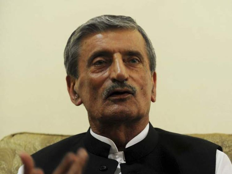Pakistani Federal Railways Minister Haji Ghulam Ahmed Bilour