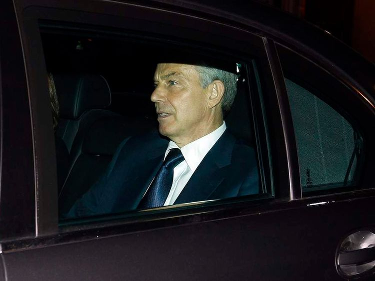 Former British Prime Minister Tony Blair arrives at the Queen Elizabeth II Conference Centre in central London