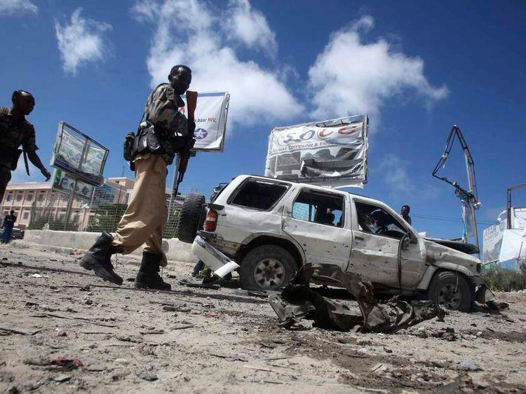 Bomb site, Mogadishu