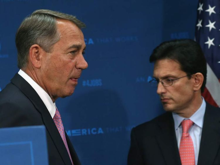 Eric Cantor is the second most powerful Republican after John Boehner (L)