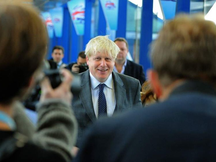Boris Johnson's arrival
