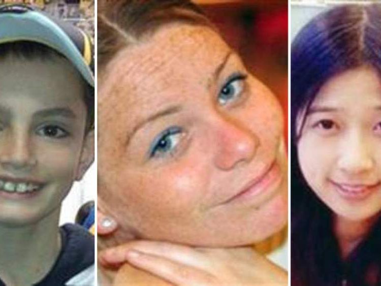 From left: Martin Richard, Krystle Campbell and Lingzi Lu were killed in the Boston bombings.