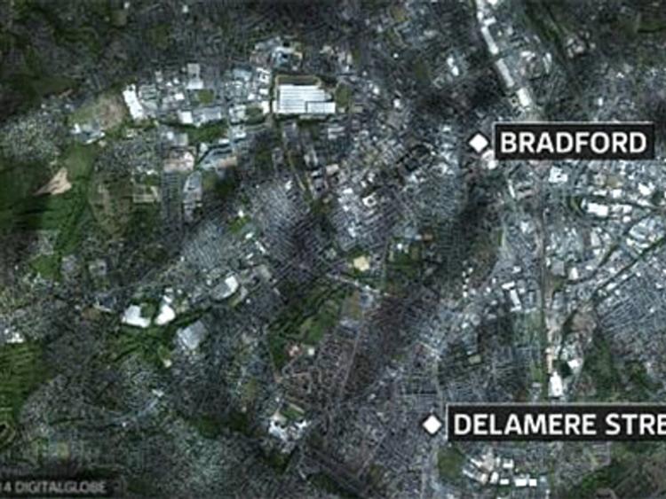 Delamere Street map, Bradford