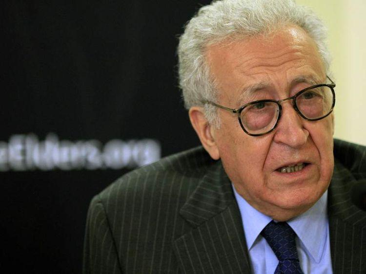 Lakhdar Brahimi, the UN/Arab League envoy to Syria