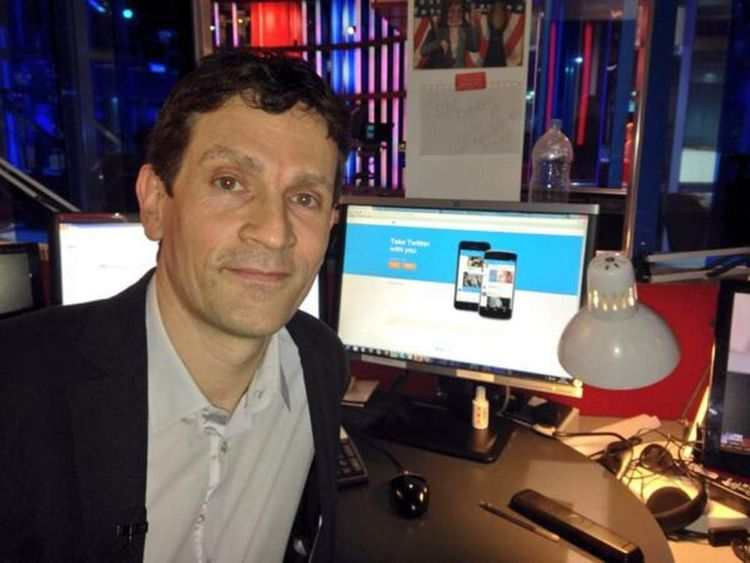 Twitter boss Bruce Daisley at Sky News HQ