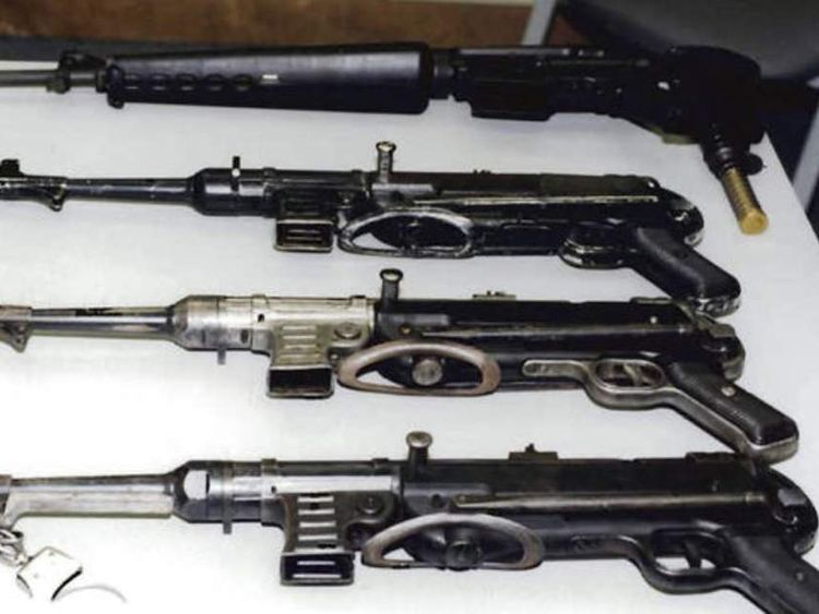 Whitey Bulger weapons shown in court