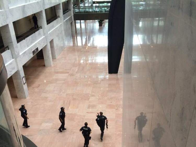 Police inside the US Capitol building