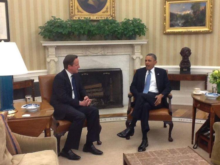 David Cameron meets Barack Obama