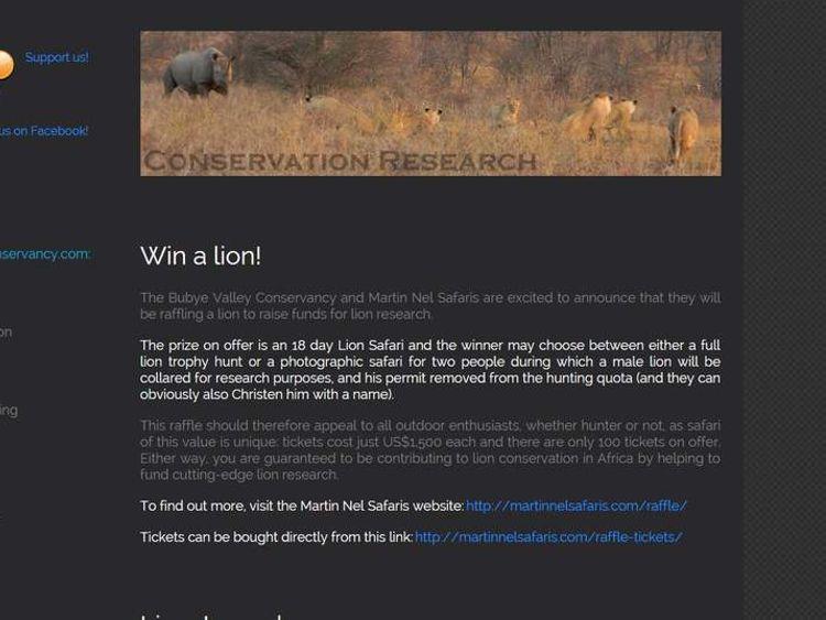 Bubye Valley Conservancy website.