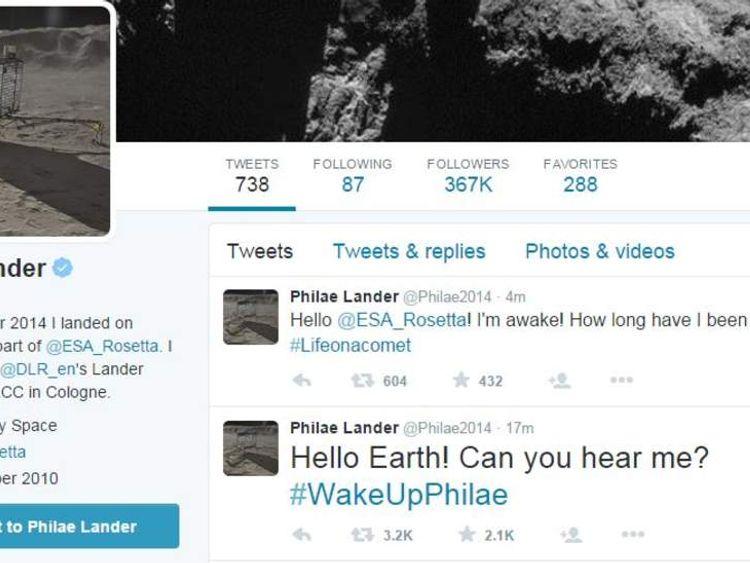 Philae space probe wakes up
