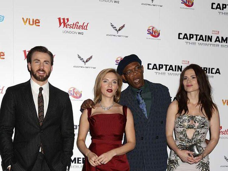Chris Evans, Scarlett Johansson, Samuel L. Jackson