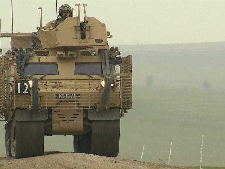 Territorial Army on exercise on Salisbury Plain