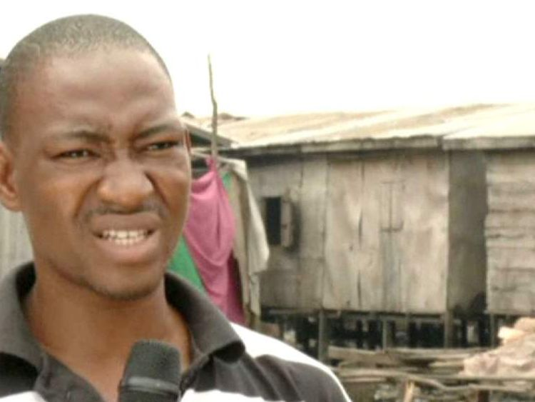 Anthony Abraham, a school teacher, talks about floating school in Makoko
