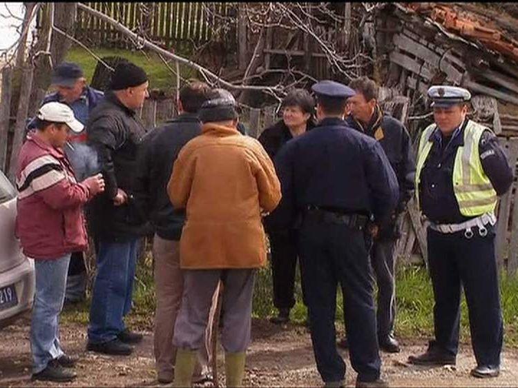 Scene of mass shooting in the village of Velika Ivanca, Serbia