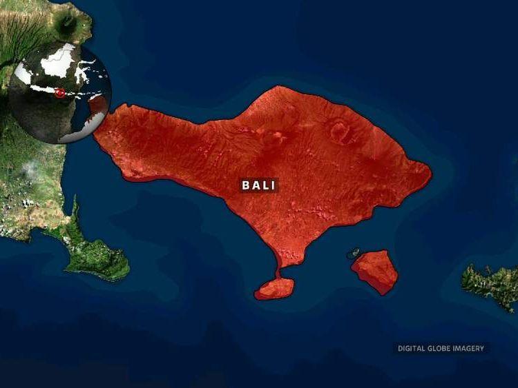 Bali Plane Crash map