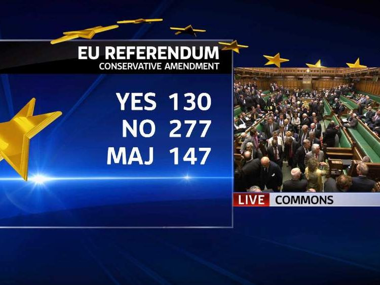 The Commons vote