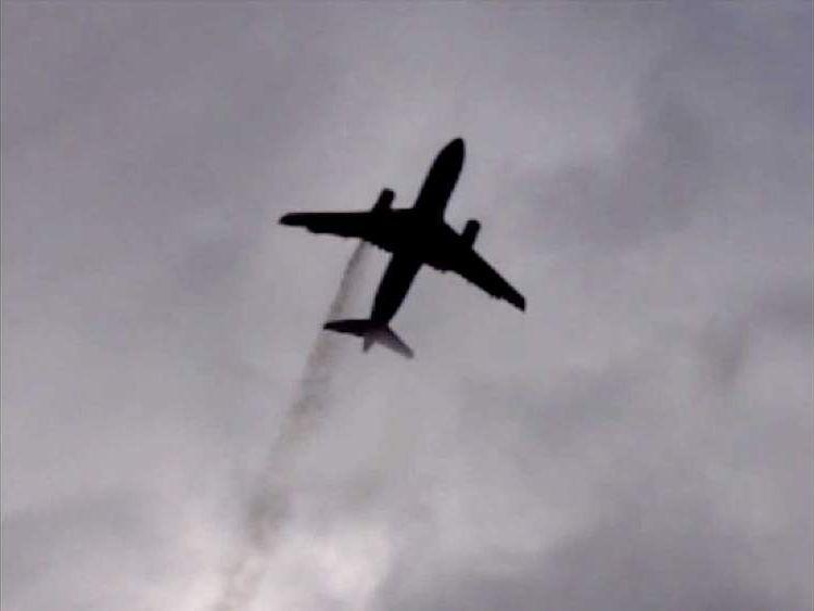 Smoke from BA plane (Pic: Baba Sariffodeen)