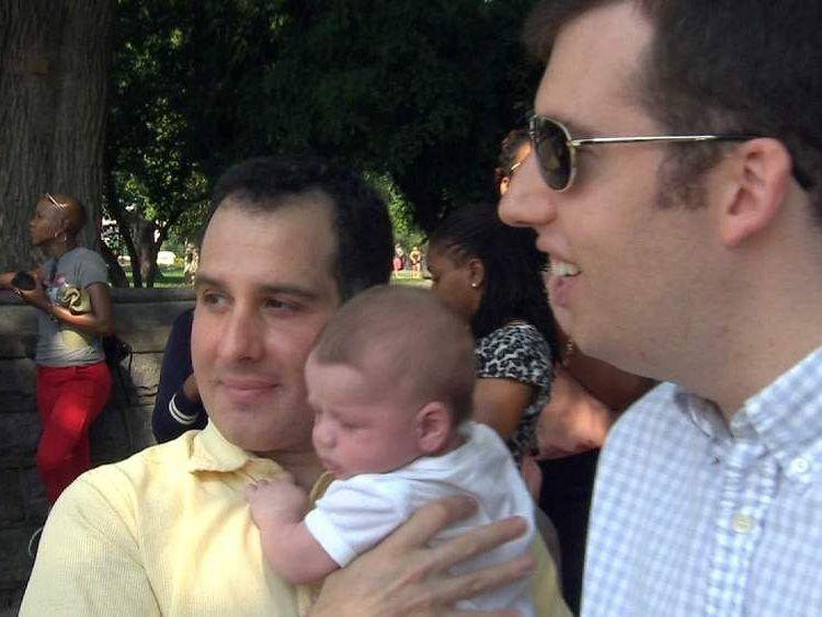 Jonathan Adler, Jonathan Lewis and son Miles