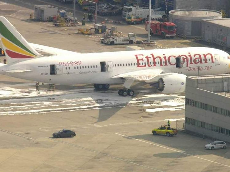 ncident involving Ethiopian Airlines plane at Heathrow airport