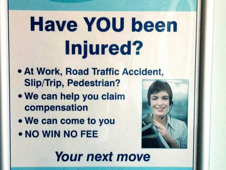 Personal injury lawyer advert