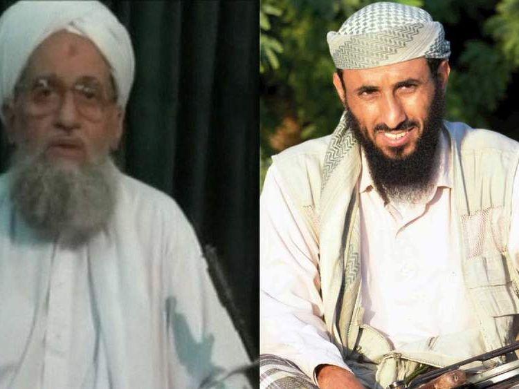 Al Qaeda leaders Ayman al Zawahiri and Nasser al Wuhayshi