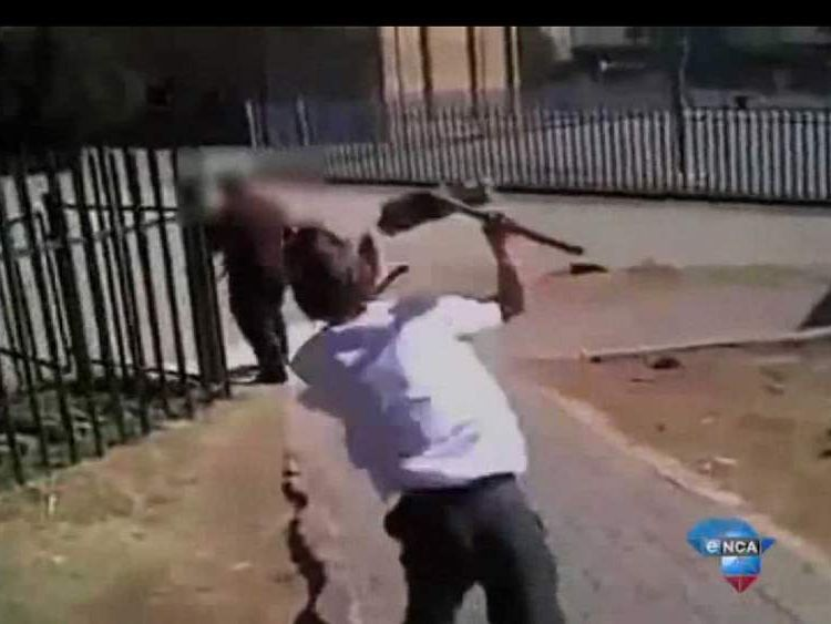 A pupil assaults a teacher at a school in Johannesburg 2