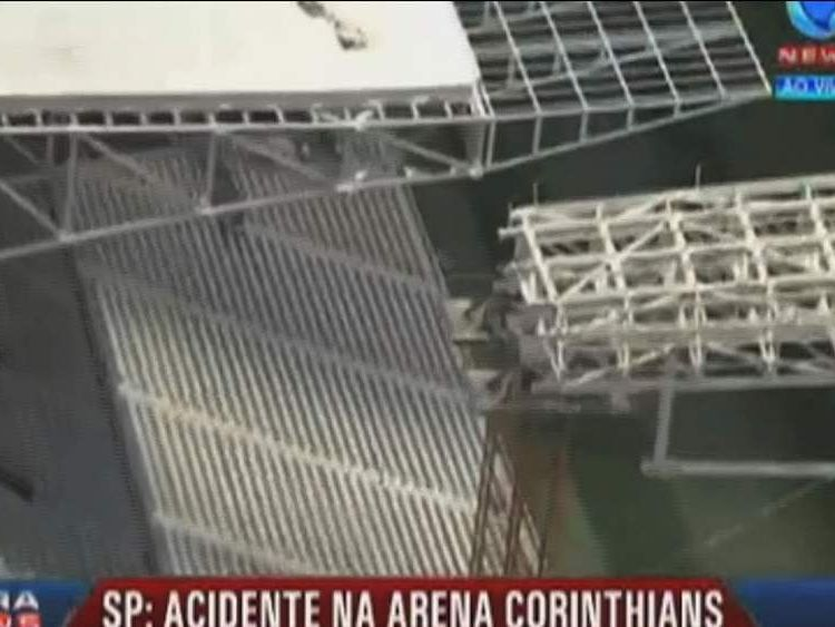 Stadium collapse in Brazil