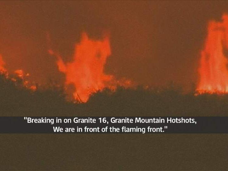 Hotshots fire crew recordings in Arizona