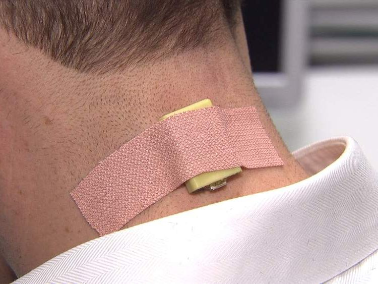 Sensor on neck