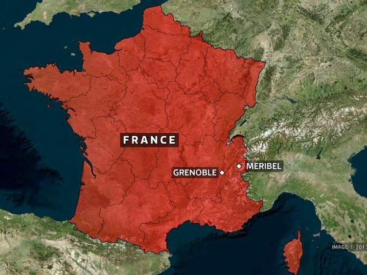 Map of Grenoble, France