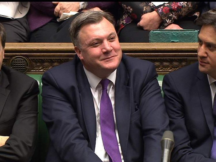 Ed Miliband and Ed Balls during PMQs