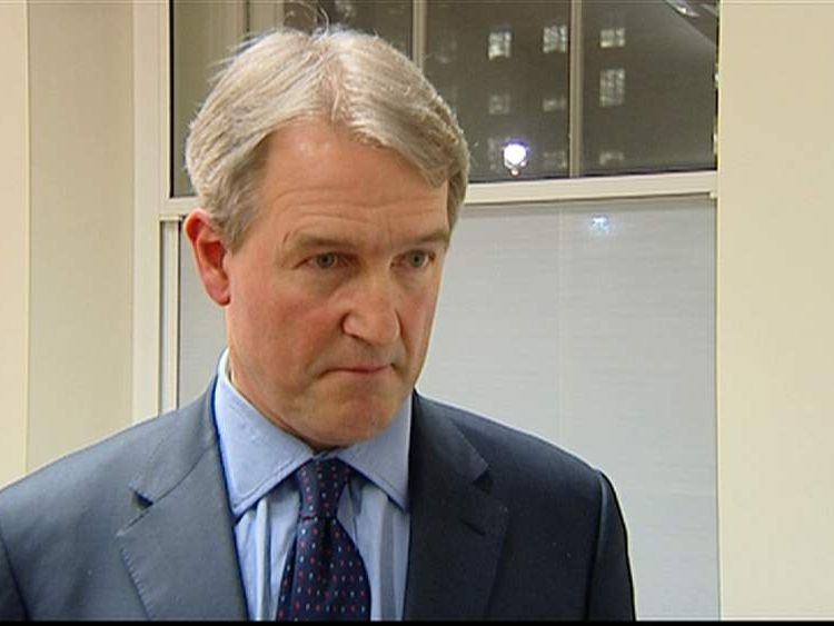 Environment Secretary Owen Paterson on flooding