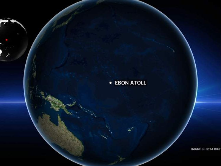 Ebon Atoll in the Pacific Ocean