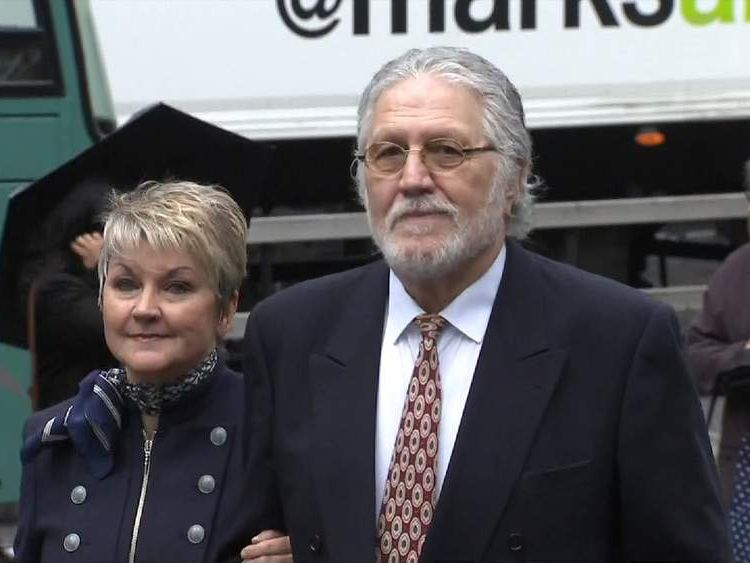 Dave Lee Travis and his wife