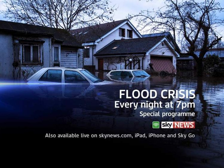 Watch special coverage of the flood crisis every night on Sky News