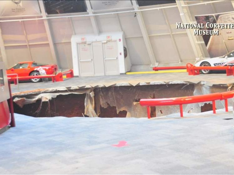 Sinkhole at National Corvette Museum
