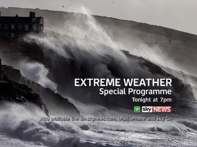 Watch a special programme on the extreme weather on Sky News tonight at 7pm
