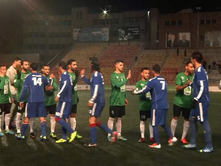 Wadi Al Nees players before a match.